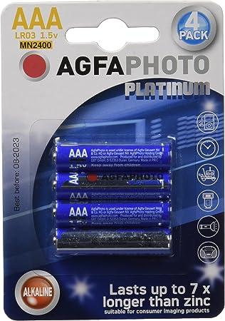 AgfaPhoto 110-802572 - Pilas alcalinas AAA, pack de 4 unidades (LR03): Amazon.es: Electrónica