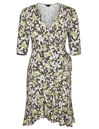 09f64bd7a73 Chicwe Women s Plus Size Stretch Viscose Flirty Flounce Wrap Dress Floral  Multi 4X