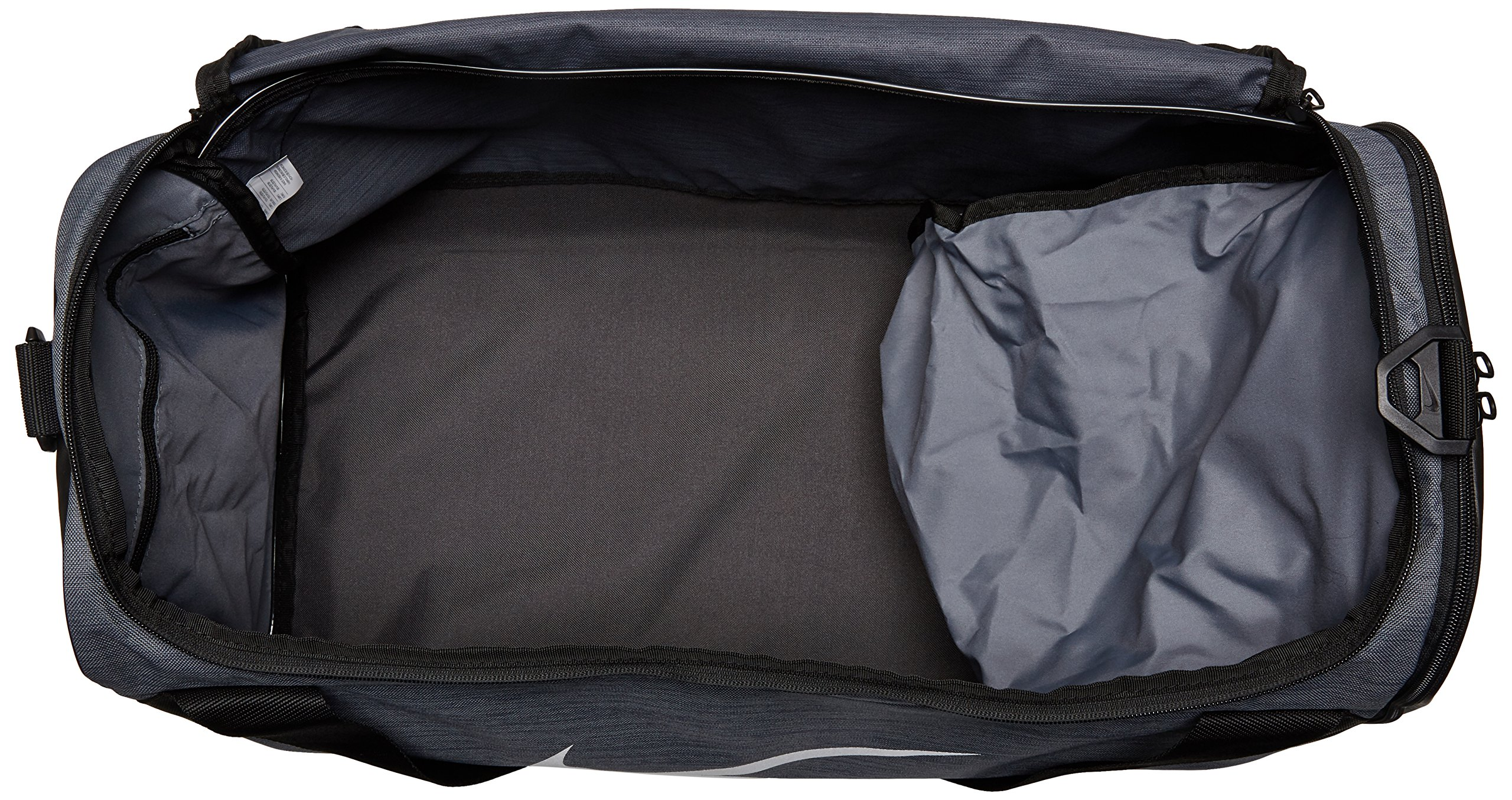 Nike Brasilia (Small) Training Duffel Bag Flint Grey/Black/White Size Small