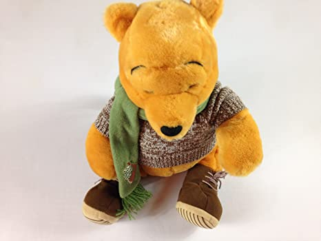 e95888dcbb64 Amazon.com  Winnie the Pooh Bear Stuffed Fall Scarf Sweater Acorn ...