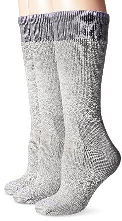 8fef49c757f02 Carhartt Women's 3 Pack Heavyweight Merino Wool Blend Boot Socks, Heather  Grey, Shoe Size