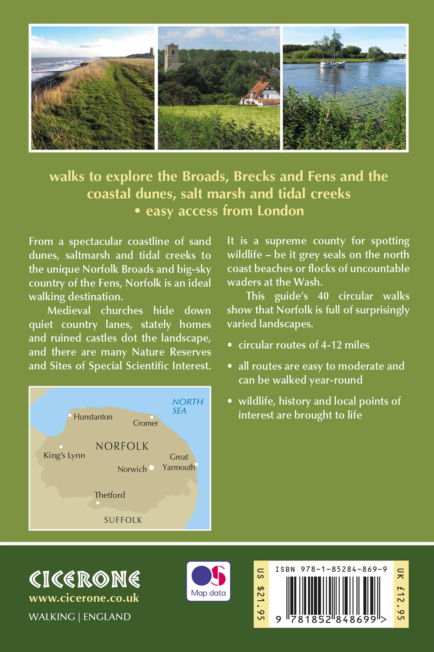 Walking in Norfolk: 40 Circular Walks in the Broads, Brecks