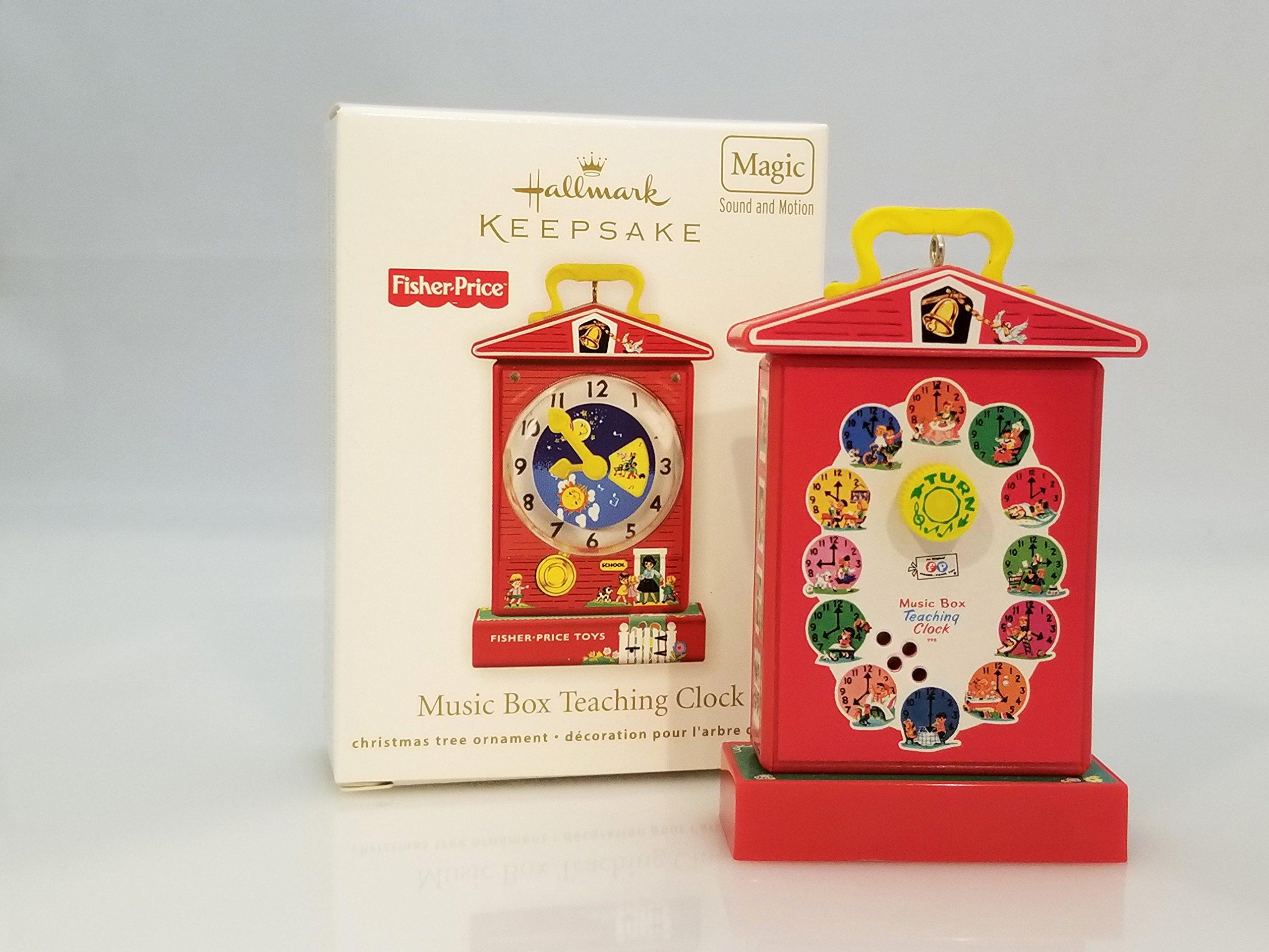 Hallmark Magic Ornament 2011 Music Box Teaching Clock - Fisher Price - #QXI2459