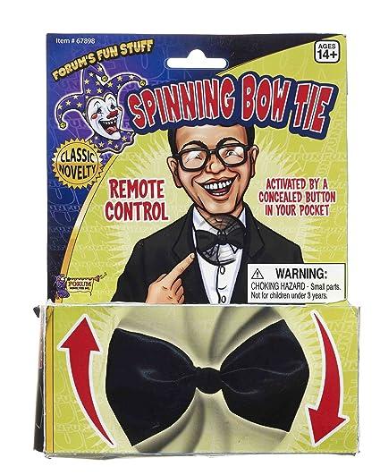 0071ce1b8d32 Amazon.com: Forum Novelties Men's Novelty Spinning Bow Tie, Black ...
