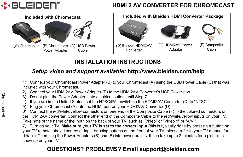 Amazon.com: HDMI Converter for Google Chromecast: Use Chromecast ...