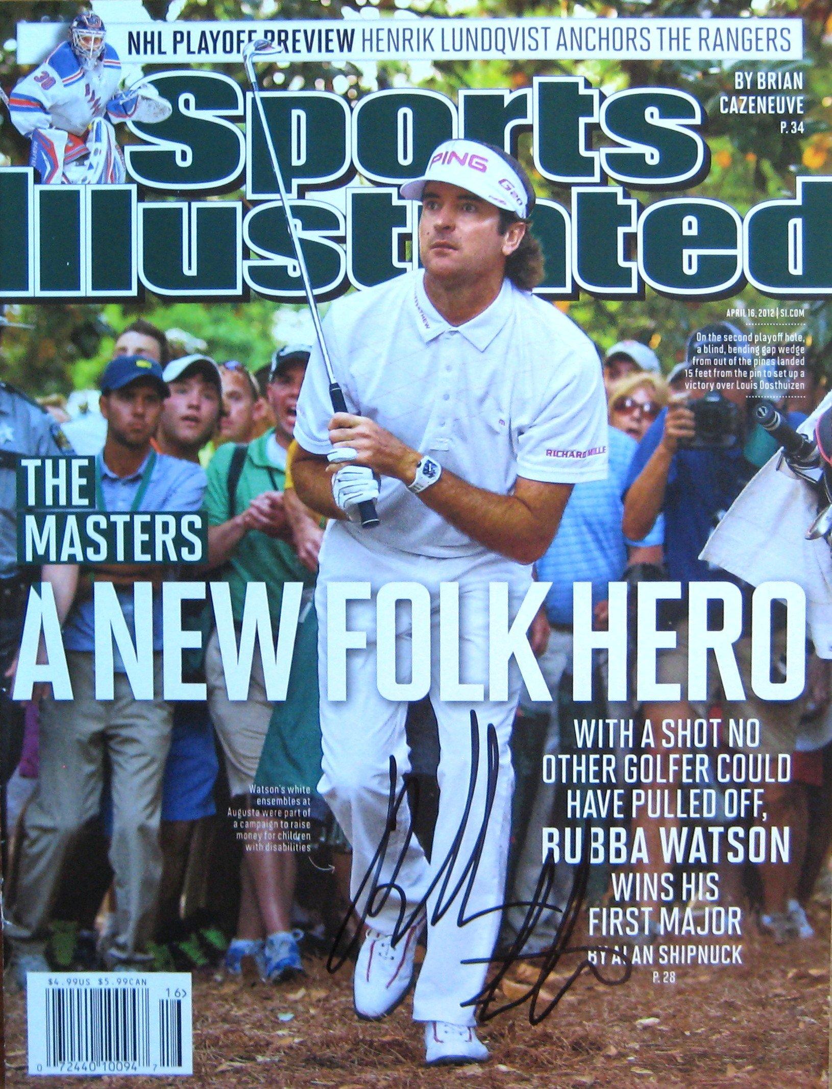 Watson, Bubba 4/16/12 autographed magazine