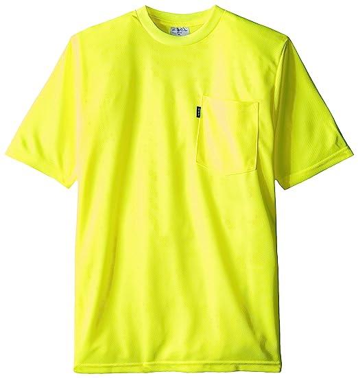 b883d4694b0b Key Apparel Men's Long Sleeve Enhanced Visibility T Shirt, Hi Vis Yellow,  Small