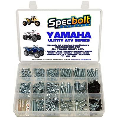 250pc Specbolt Bolt Kit for Yamaha UTILITY ATV including all Grizzly Warrior Wolverine Big Bear Tracker Breeze Timberwolf Rhino YFM YTZ for Maintenance & Restoration using OEM Spec Fasteners for Quads: Automotive