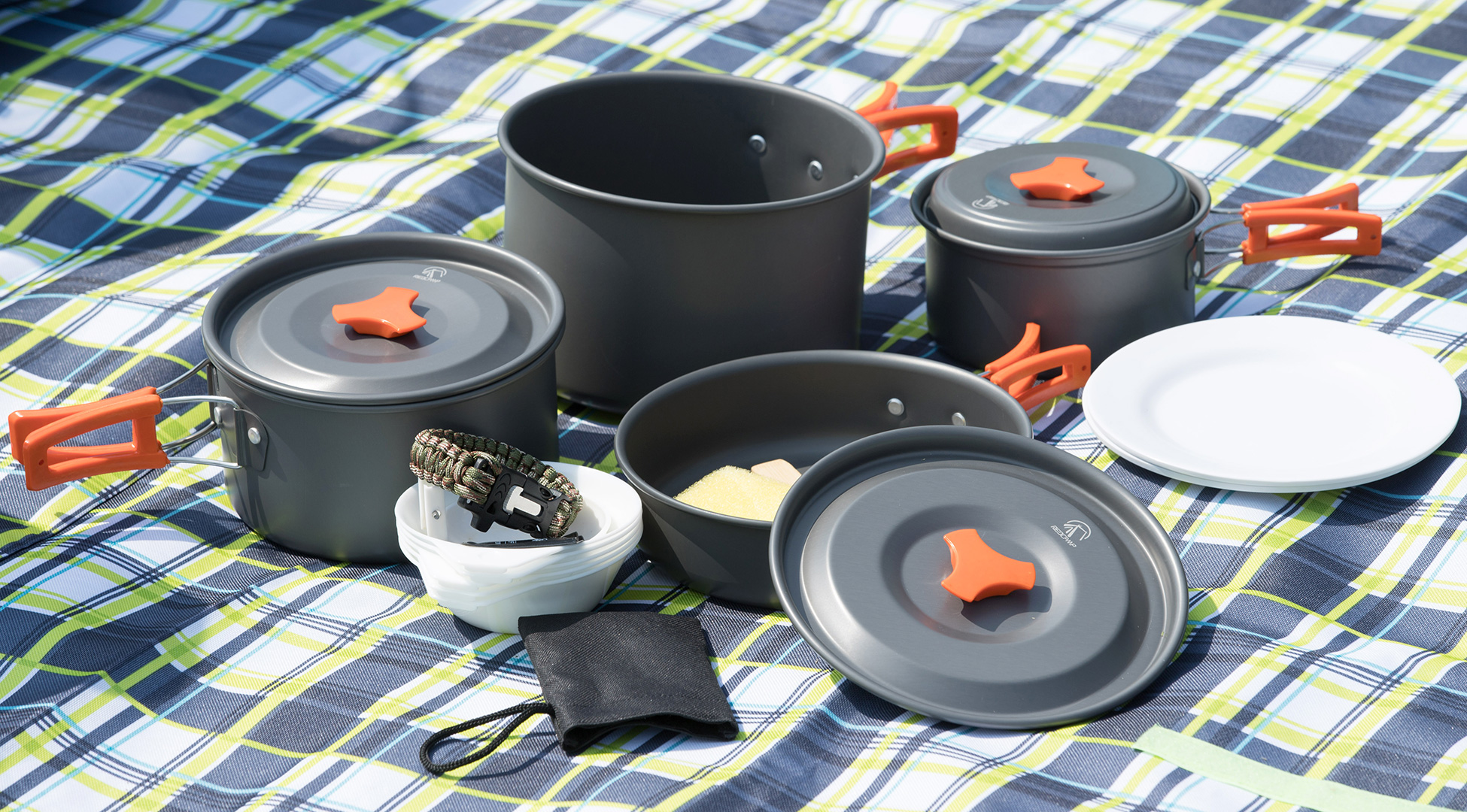 Camping cookware set for family