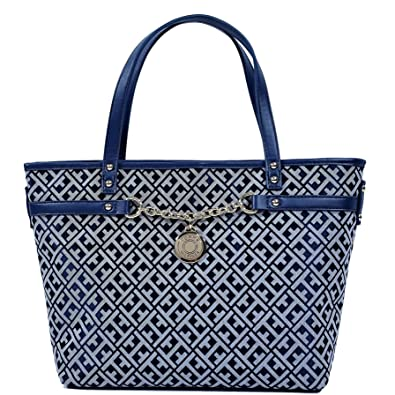 638b2c1c Image Unavailable. Image not available for. Color: Tommy Hilfiger Women's  Medium Chain Tote Bag Handbag