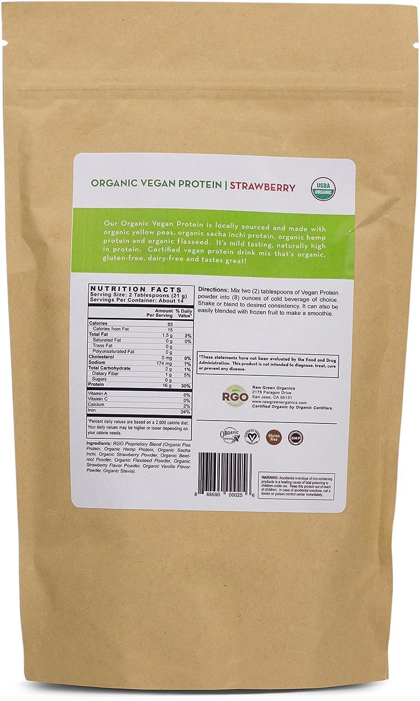 Amazoncom Raw Green Organics Organic Vegan Protein