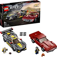 LEGO 76903 Speed Champions Chevrolet Corvette C8.R Race Car and 1968 CC Racing Cars Toys for 8+ Years Old, 2 Sports…