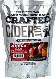 ABC Crafted Series Cider Making Kit | Hard Cider Making Ingredients for Home Brewing | Yields 6 Gallons of Hard Cider| (Spiced Apple)