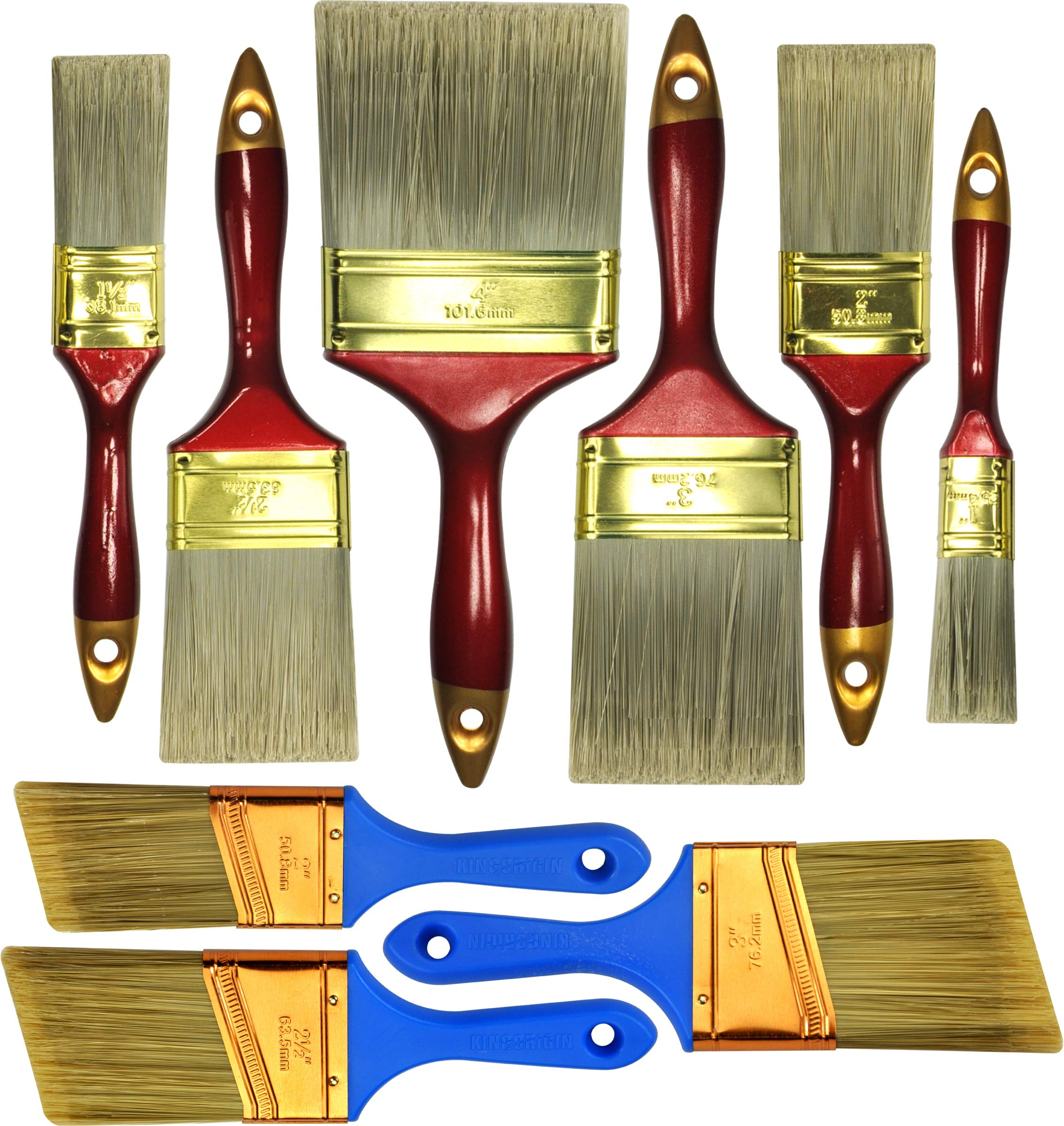 10 Piece Professional Painters Heavy Duty Paint Brush,Paint Brushes,Paint Brushes Set,Paint Brushes,Painters Tools,Painters Brush,Painters Paint Brush by Great Andrew
