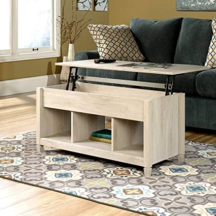 Merveilleux Lift Top Coffee Table With Hidden Storage And 3 Cubes Cream Finish Wooden  Modern Coffee