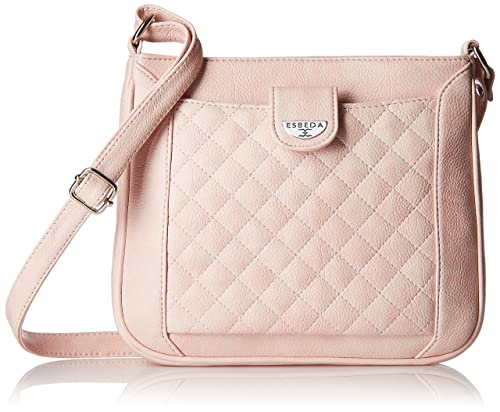 2da35ddeef8 ESBEDA Light Pink color Quilted Slingbag for womens  Amazon.in ...