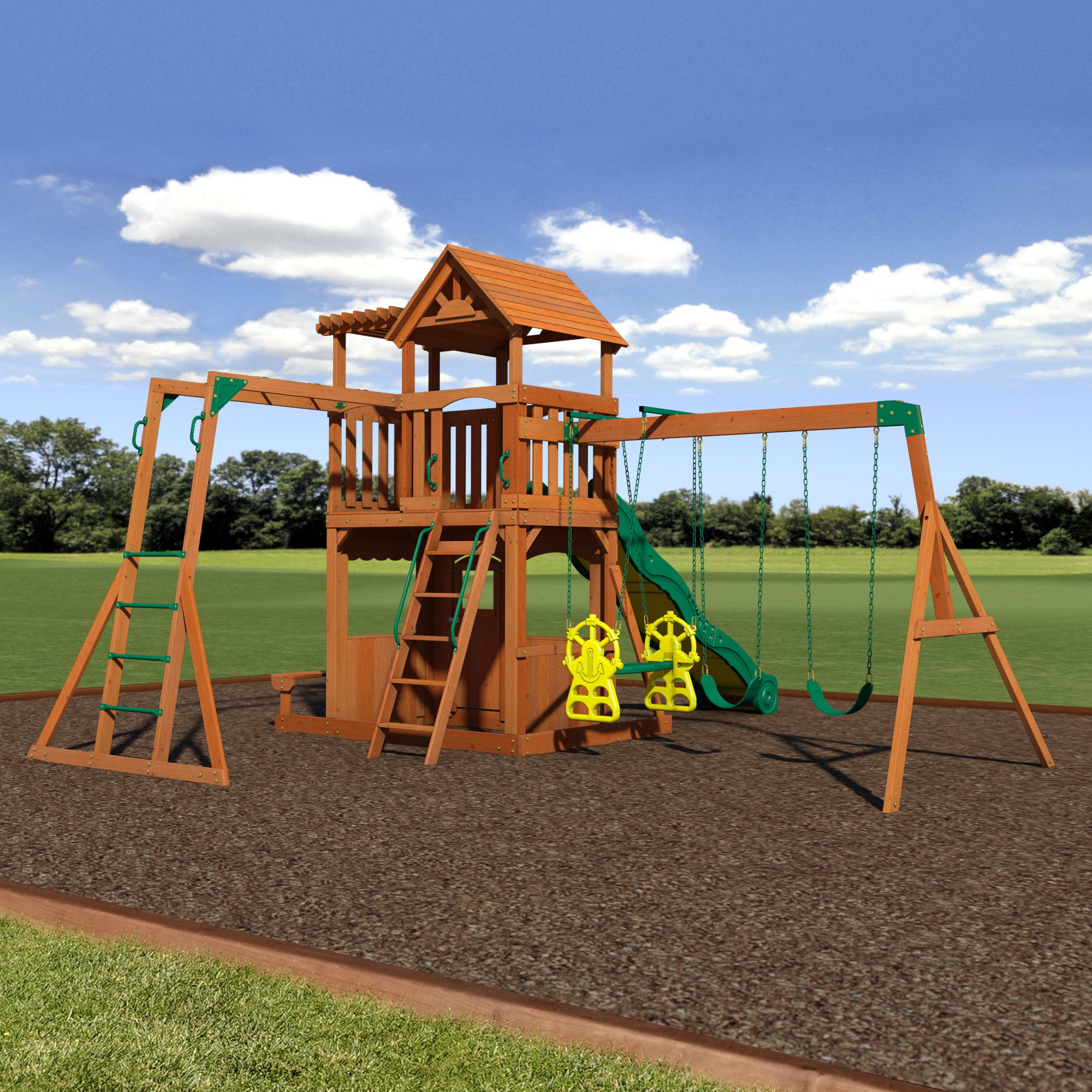 Backyard Discovery Thunder Ridge All Cedar Wood Playset Swing Set by Backyard Discovery (Image #4)