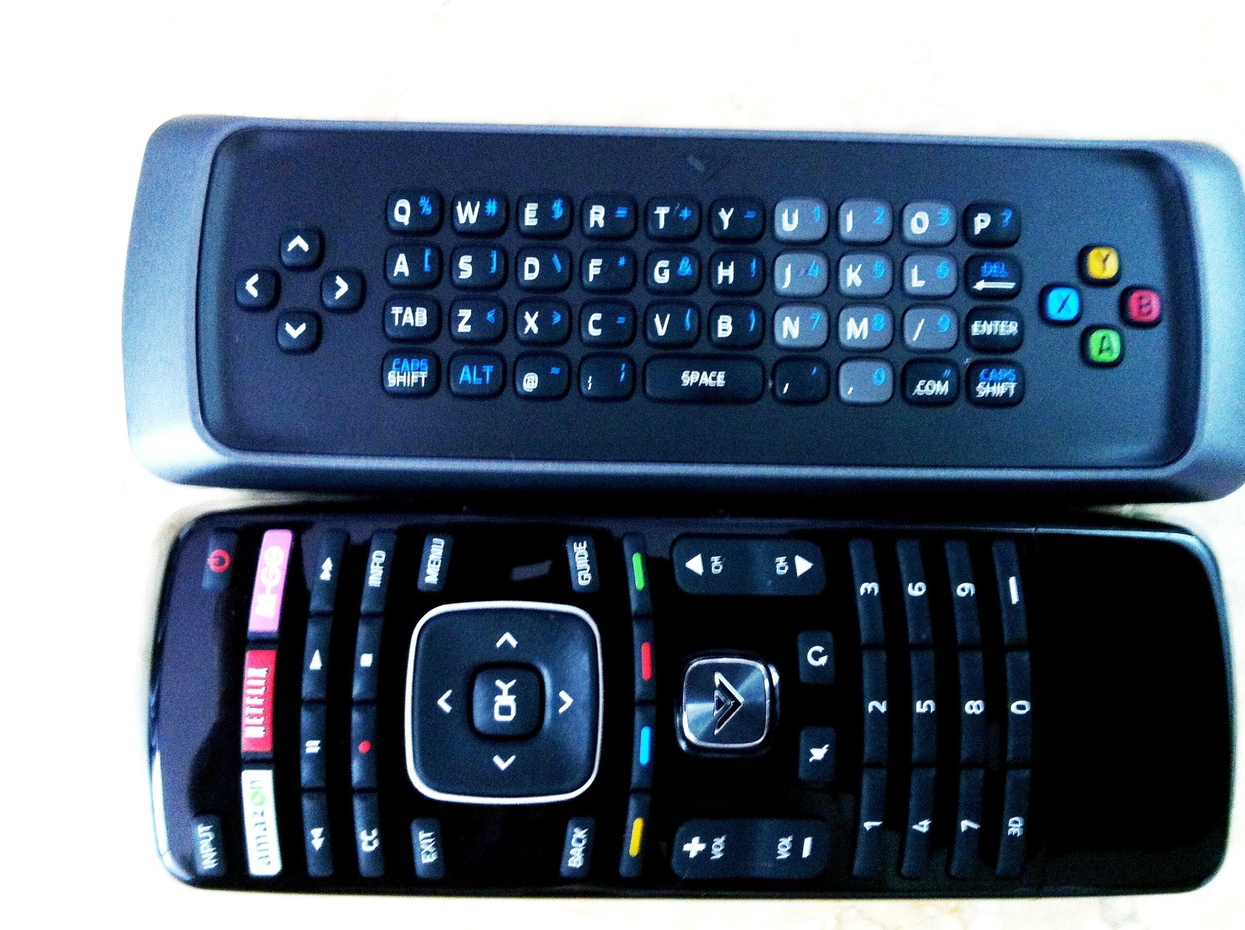 Original VIZIO XRT303 Qwerty keyboard remote for M3D550KDE M3D470KDE M3D550KD 3D M-GO TV internet TV by Vizio