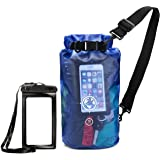 Earth Pak Dry Bag and Waterproof Phone Case - 10L / 20L - Transparent So You Can See Your Gear - Keep Your Stuff Safe and Secure While Kayaking, Camping, Boating, Fishing, Hunting