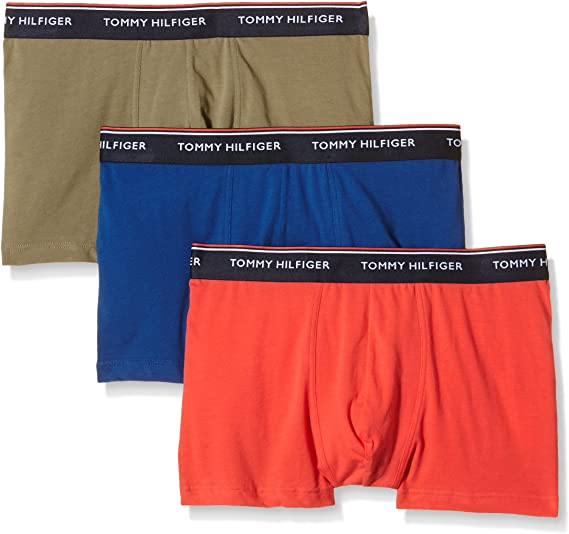 Tommy Hilfiger Trunk 3 pack premium essentials Calzoncillos, Multicolor (Dusky Green-Pt/Bittersweet/Limoges-P), Small (Pack de 3) para Hombre: Amazon.es: Ropa y accesorios