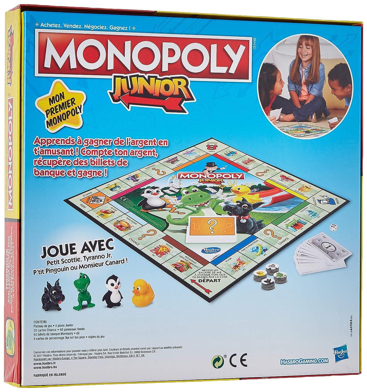 jeu monopoly junior - jeux de sociétés enfants
