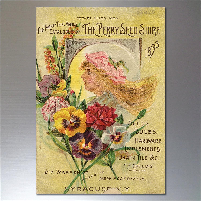 Vintage Botanical Horticultural seed packet fridge magnets No.2 set of 8
