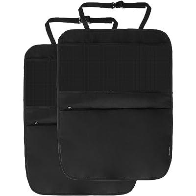 Basics Waterproof Car Seat Protector, Kick Mat and Back Seat Storage Organizer, 3 pockets, iPad Tablet Holder: Automotive