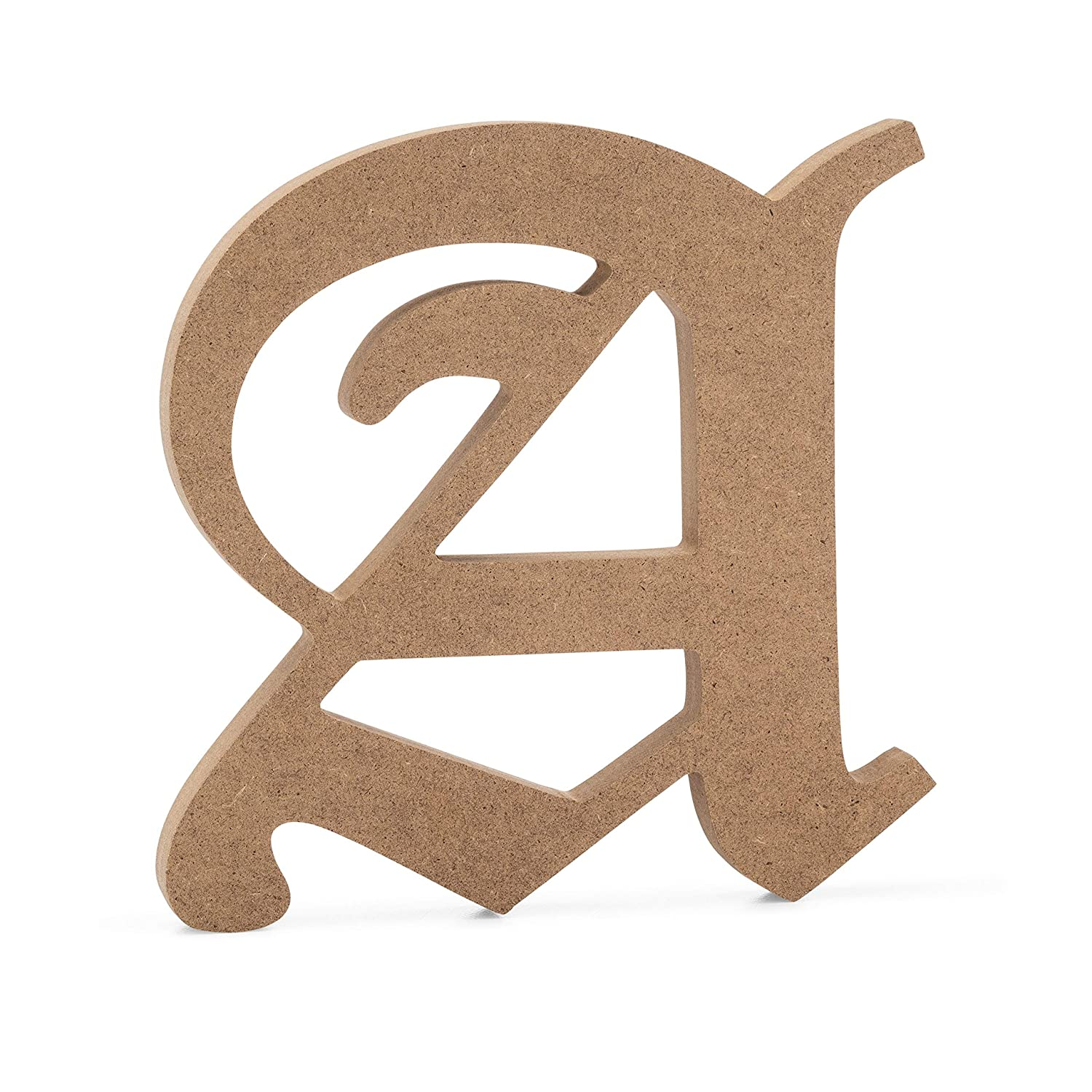 6 Old English Wooden Letter E 6 inch, E JoePauls Crafts Premium MDF Wood Wall Letters