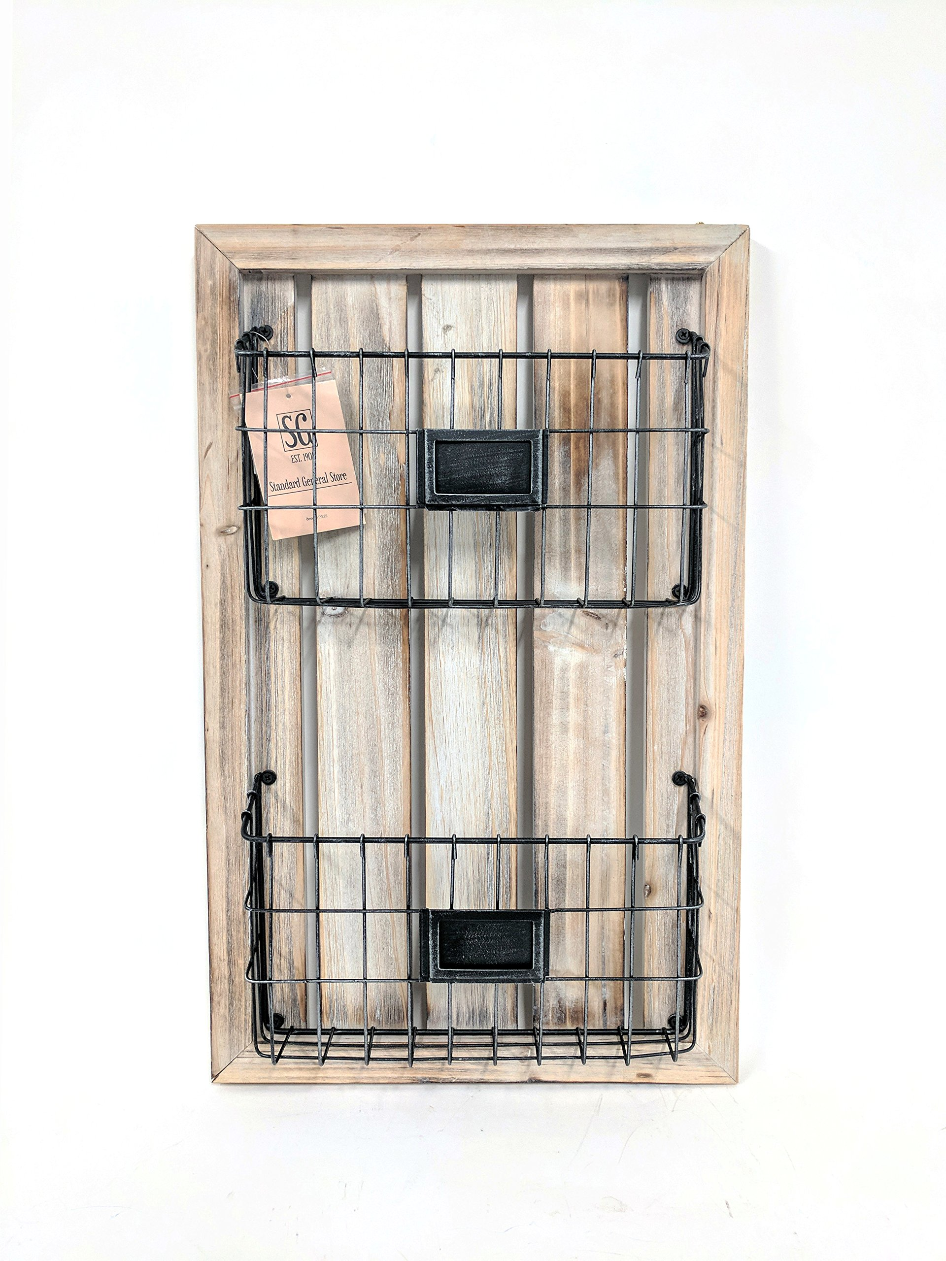 Wood and Metal Magazine Rack