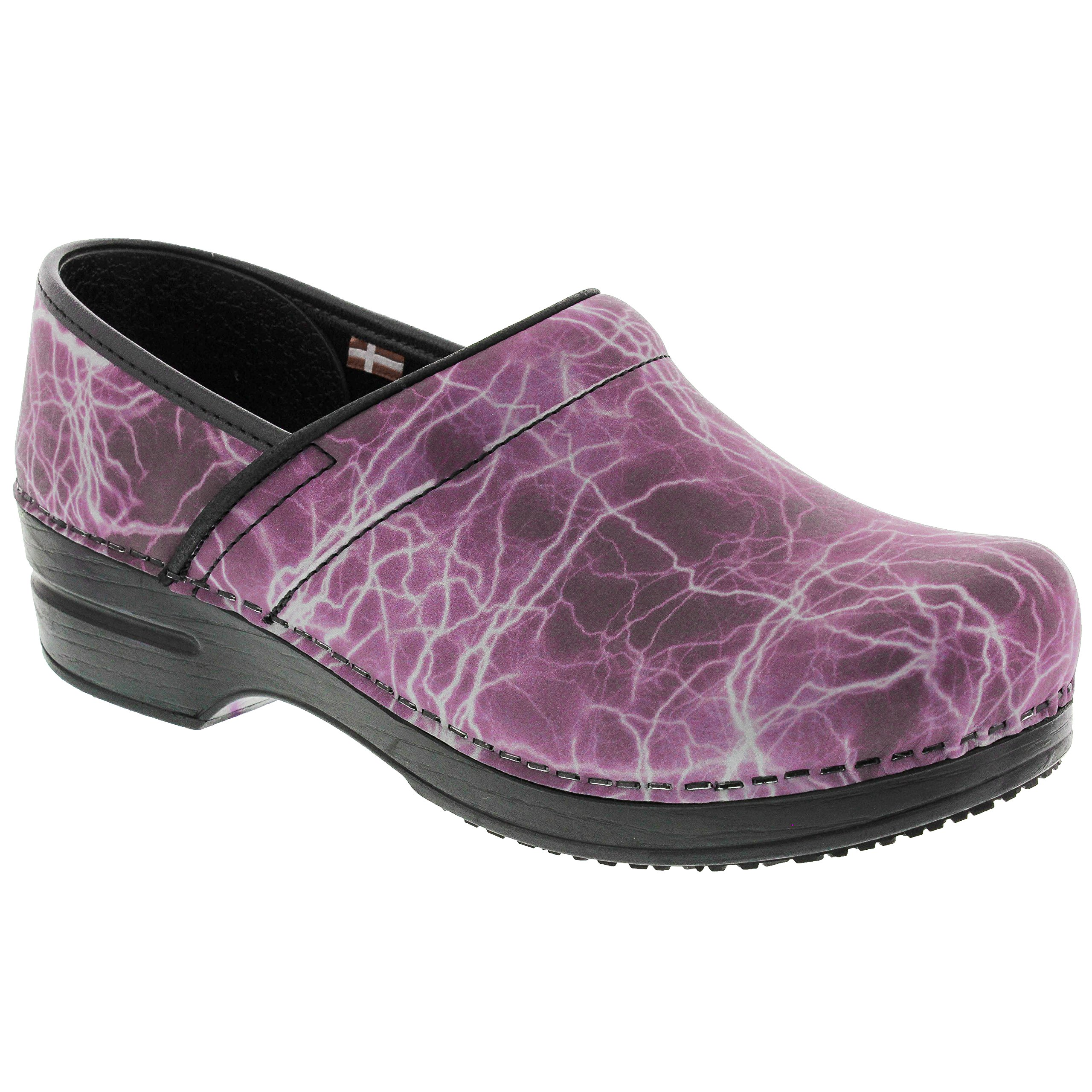 Sanita Women's Smart Step Pro. Monsoon Clog, Fuchsia, 41 M EU (10 US) by Sanita