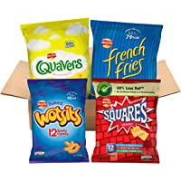 Walkers under 100 calories Multipacks Snacks and Crisps Box (48 Single Bags)