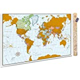 scratchable poster map a scratch off world map that tracks your travels vibrant colors