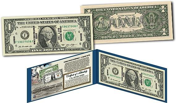 HAWAII $2 Statehood HI State Two-Dollar U.S Bill *Genuine Legal Tender* w//Folio
