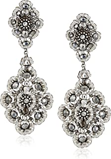 product image for Miguel Ases Pyrite Bead and Sterling Silver Medium Drop Earrings