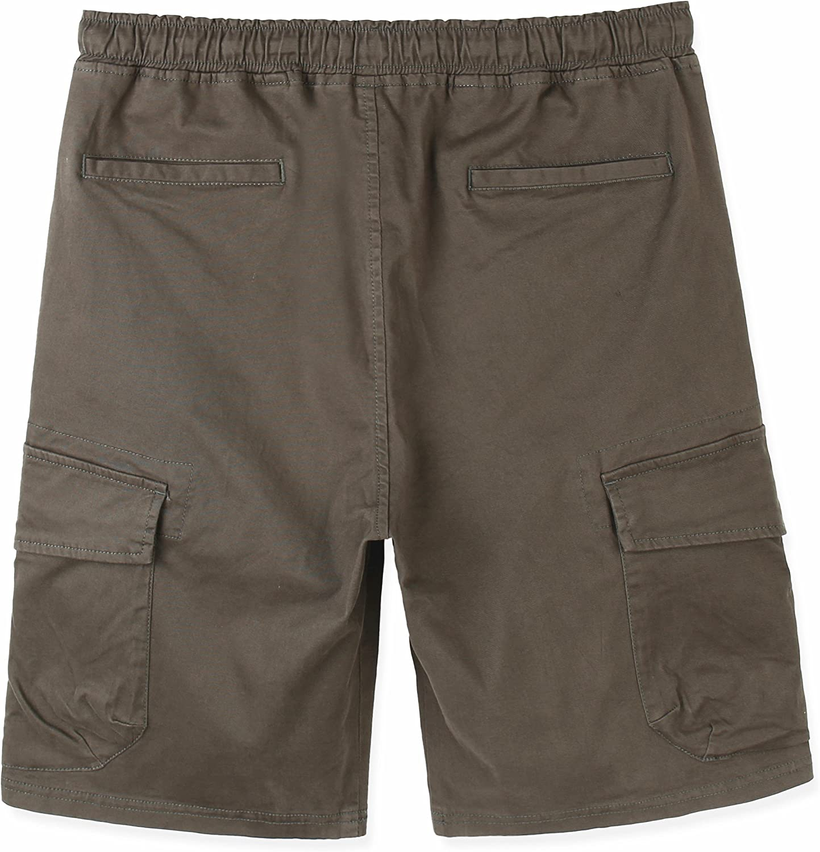 Estepoba Mens Premium Casual Slim Fit Stretch Cotton Twill Cargo Jogger Short