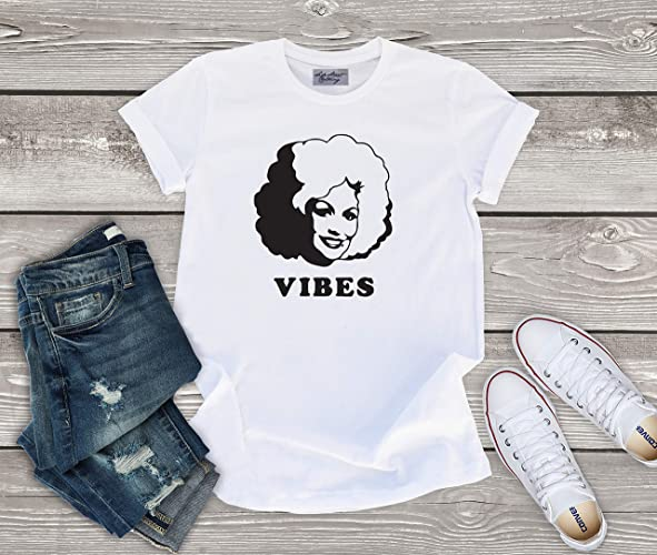 309953940 Amazon.com: Dolly Parton Vibes T shirt - baby, toddler, youth, women, men  country music, country concert, country music festival: Handmade