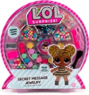 L.O.L. Surprise! Secret Message Jewelry by Horizon Group Usa, DIY Jewelry Making Craft Kit, Includes 400+ Beads & Charms, St