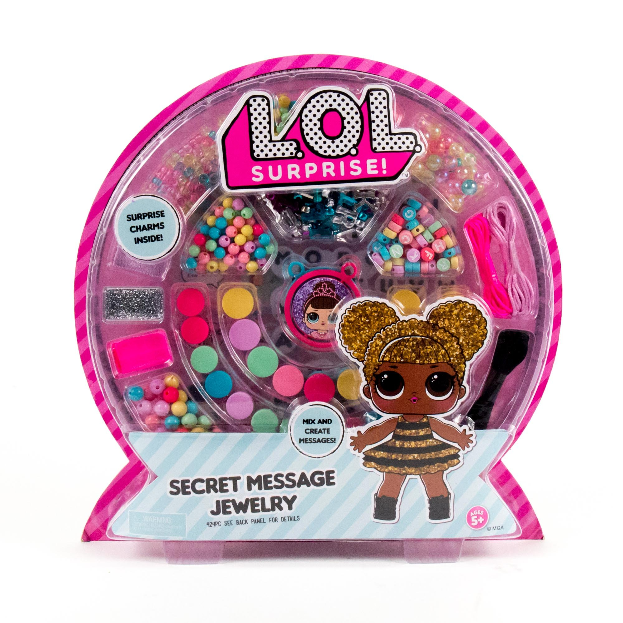 L.O.L. Surprise! Secret Message Jewelry by Horizon Group Usa, DIY Secret Jewelry Making Kit, Over 400 Beads & Charms Included, Multicolored by L.O.L. Surprise!