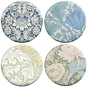 "Buttonsmith William Morris Arts and Crafts 1.25"" Refrigerator Magnet Set - Made in the USA"
