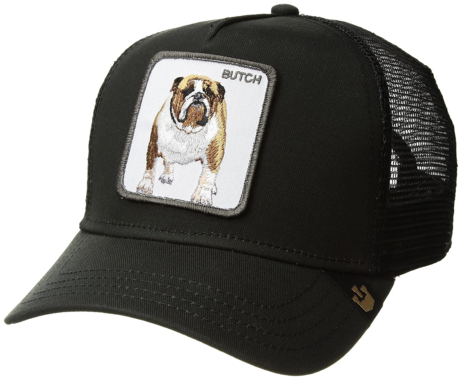 c7a96bb7 Goorin Bros. Men's Butch Animal Farm Trucker Cap, Black, One Size at Amazon  Men's Clothing store: