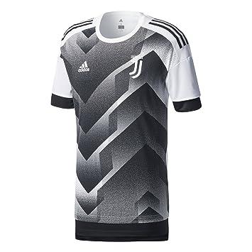 Adidas Juve H Preshi Camiseta Juventus de Turín, Hombre, Blanco/Negro, L: Amazon.es: Deportes y aire libre