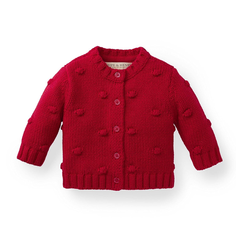 Hope & Henry Layette Girl Bobble Sweater 18SPL113AAE1824m