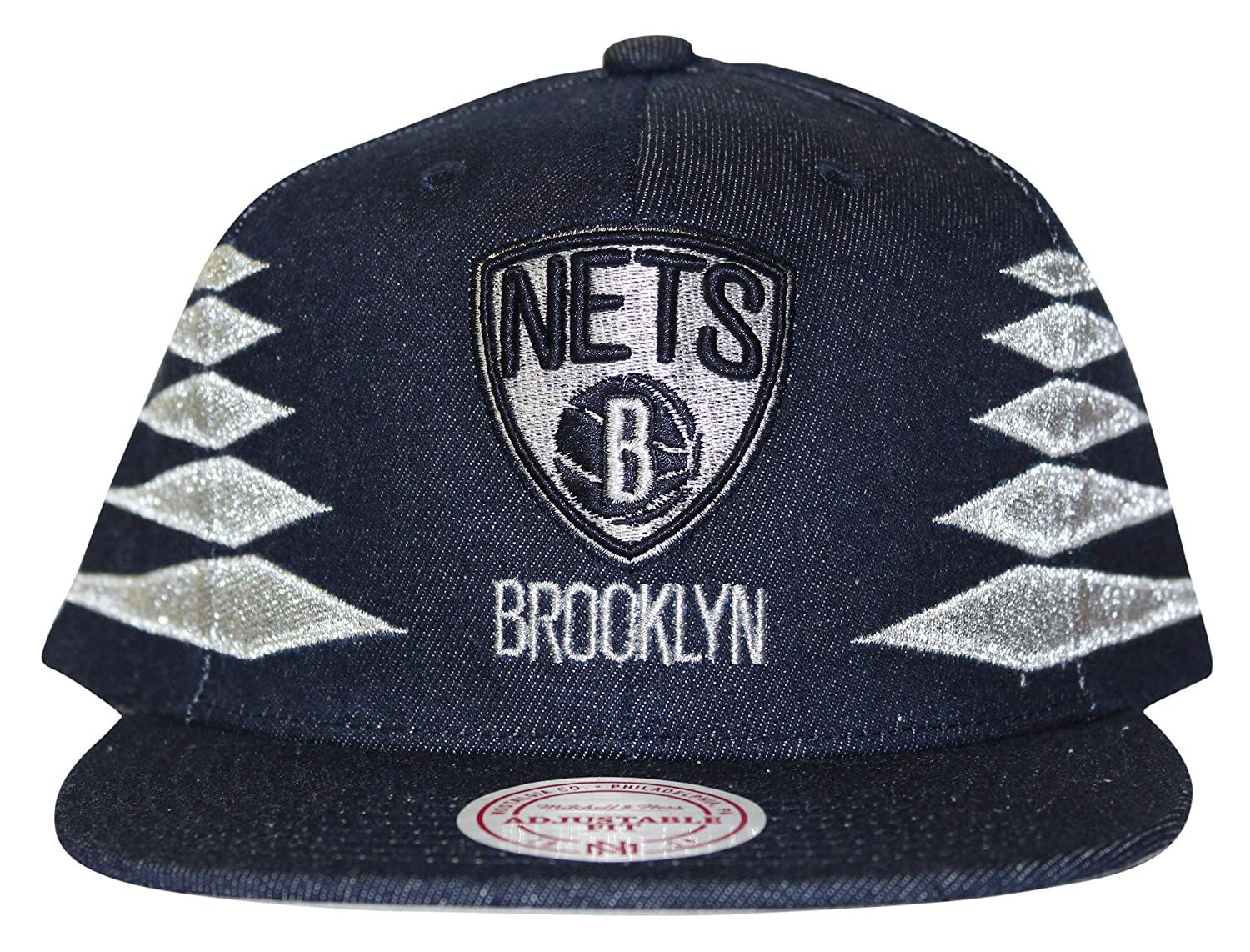 0f63f168 Metallic embroidery front logo. Side metallic embroidered diamond patterns.  Grey under visor. Snap closure. Let everyone know who you\'re rooting for!