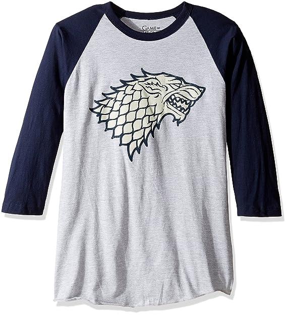 Amazon.com  HBO Game Of Thrones Men s House of Stark Raglan T-Shirt   Clothing e32d01dc7