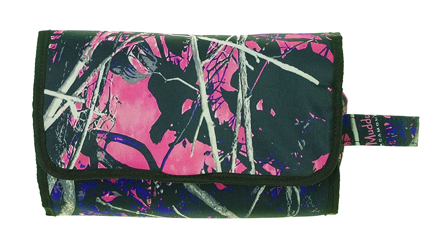 Muddy Girl Purple Pink Roll Up Cosmetic Bag
