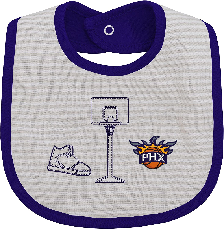 NBA by Outerstuff NBA Newborn NBA Newborn Fair Catch 3 Piece Bib Set