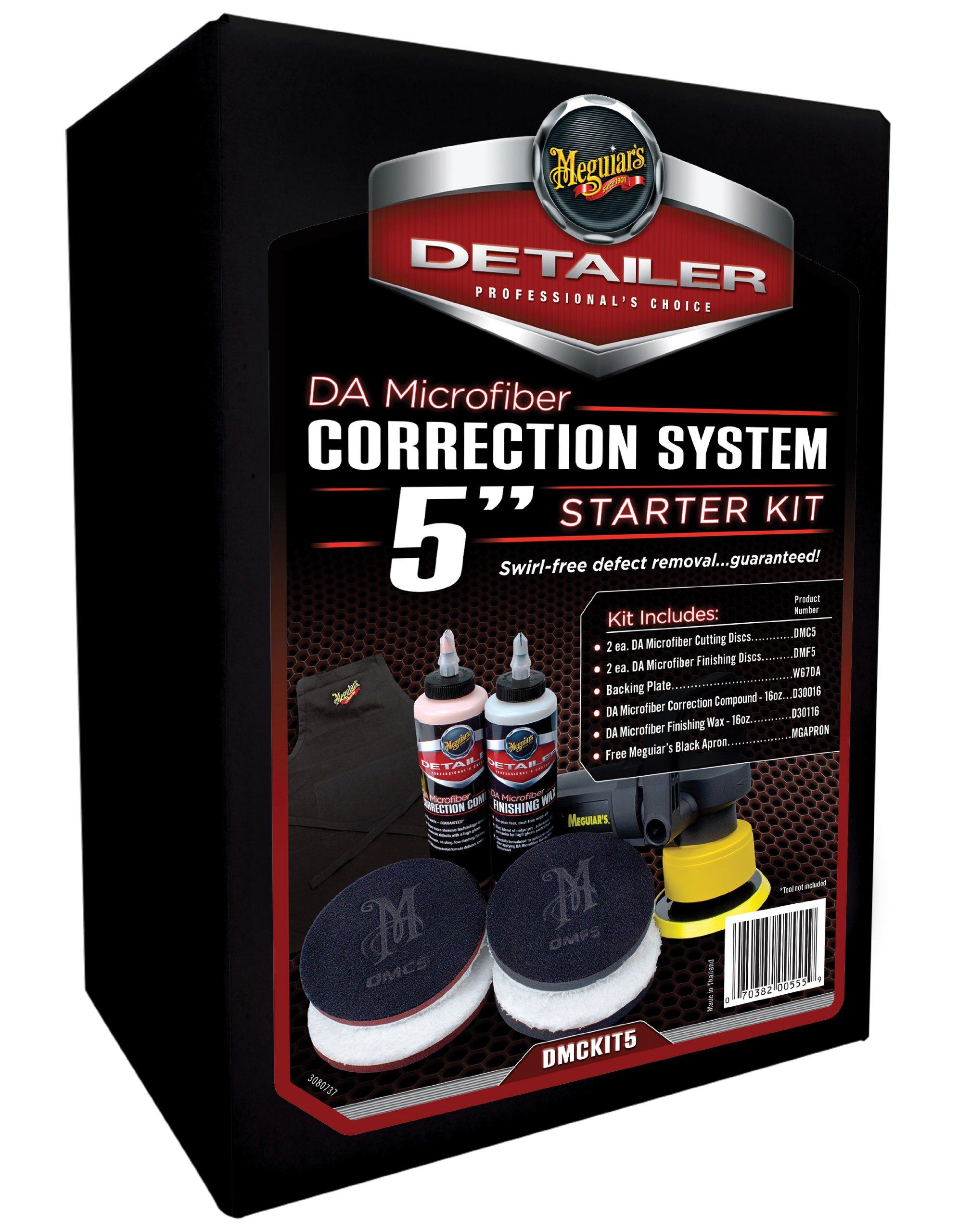 Meguiar's DA Microfiber Correction System 5'' Starter Kit – Complete Paint Correction Kit – DMCKIT5