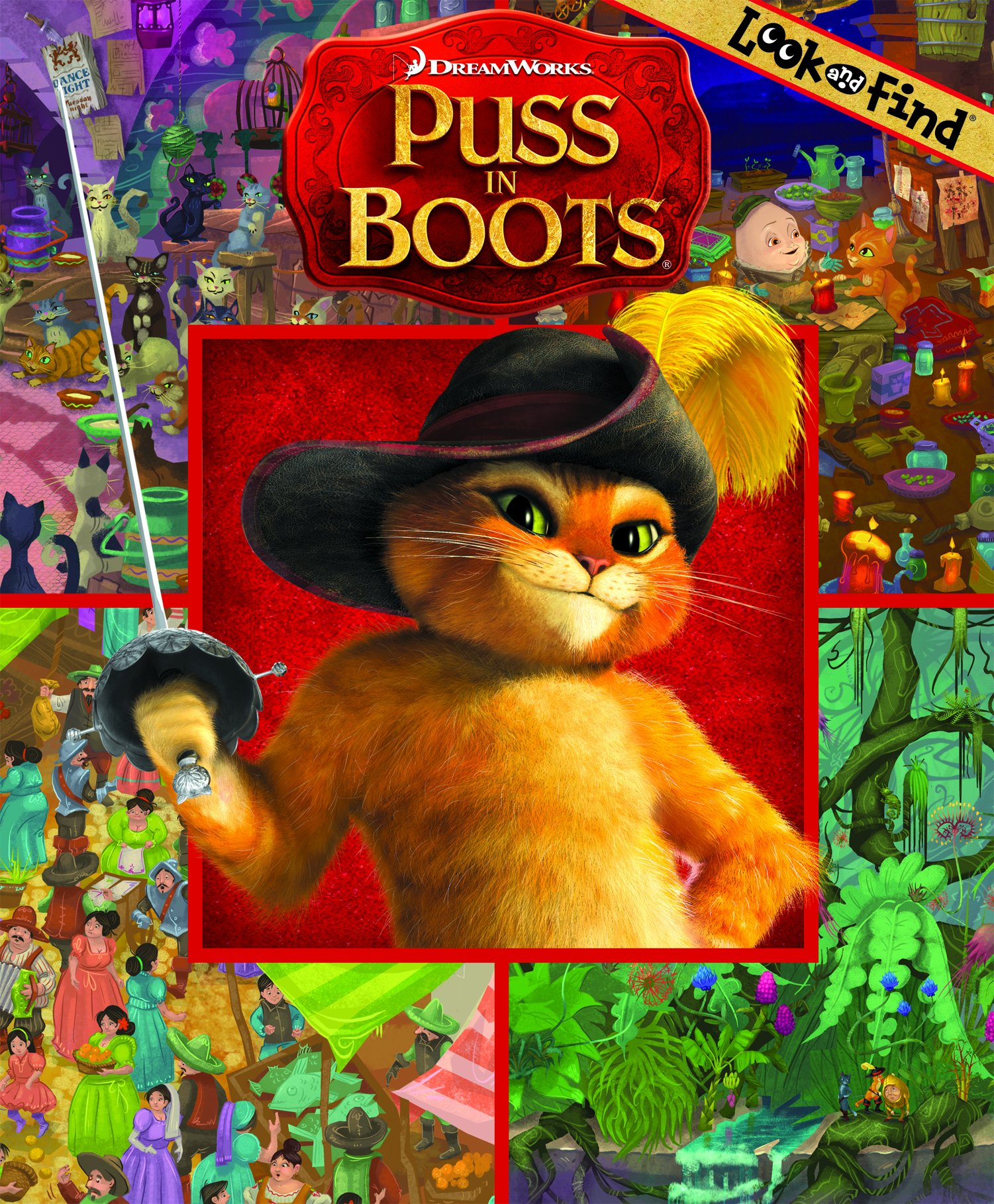 Look And Find Puss In Boots Look Find Jason Beene 9781450826969 Amazon Com Books