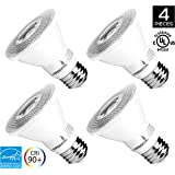 Hyperikon PAR20 LED Bulb Dimmable, 8W (50W Equivalent), 3000K (Soft White Glow), CRI 90+, Flood Light Bulb, Medium Base (E26), UL & ENERGY STAR - Great for Appliances, Kitchen, Outdoors (4 Pack)