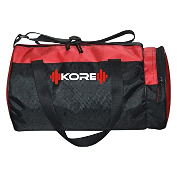 fe6ca7c6e601 Buy Kore K-Fusion-5.0 Gym Bag (Red Black) Online at Low Prices in India -  Amazon.in